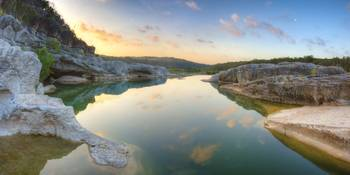 Texas Landscapes - Pedernales Falls Sunrise in the