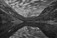 Colorado Images - Maroon Bells Black and White