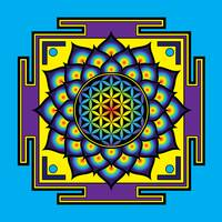 Flower of Life Psychedelic Mandala