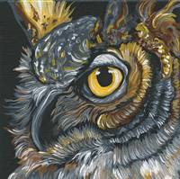 Owl Wildlife Bird Art-Carla Smale