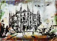 Duomo Milan Modern Decorative Mixed Media Art