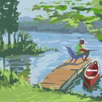 """""""Fishing Indian Lake"""" by rogerwhite"""