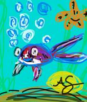 Blue Fish - Anna's digital art #5