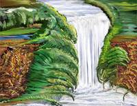 Waterfall Painting