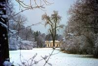 Nymphenburg Lodge in Snow by Priscilla Turner