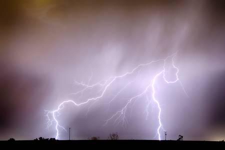 Lightning Strikes The Dacona Oil Fields