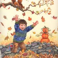 Autumn Happiness Art Prints & Posters by Wendy Edelson