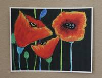 BeeSturgis_floral_poppies_colorful_orange poppies_