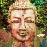Buddha with Leaves