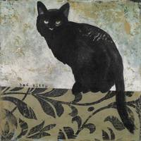 Bad Kitty Black Cat Painting