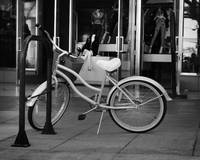 Bicycle at Third Street Promenade in Grayscale
