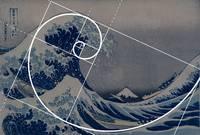 Hokusai Meets Fibonacci, Golden Ratio