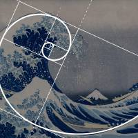 """Hokusai Meets Fibonacci, Golden Ratio"" by Ars_Brevis"