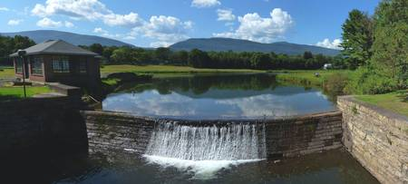 Town Reservoir and Catskill Mountains