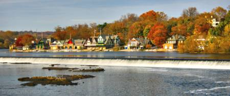 Autumn at Boathouse Row