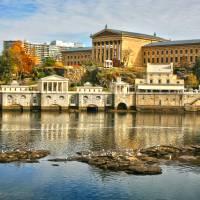 """Autumn at Philadelphia Waterworks ; Museum of Art"" by theJasonKnight"