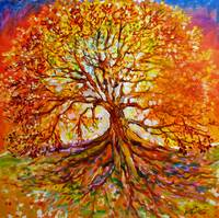 Tree of Life Autumn Sunset