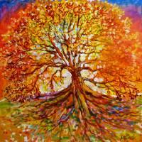 Tree of Life Autumn Sunset  by Marcia Baldwin