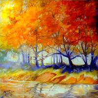 AUTUMN ON THE LAKE by Marcia Baldwin