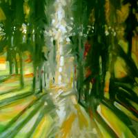 TREES ~ INTO THE LIGHT by Marcia Baldwin