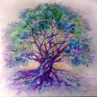 TREE OF LIFE PURPLE RAIN by Marcia Baldwin