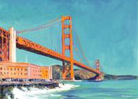 Golden gate bridge by RD Riccoboni