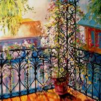 FRENCH QUARTER BALCONY by Marcia Baldwin
