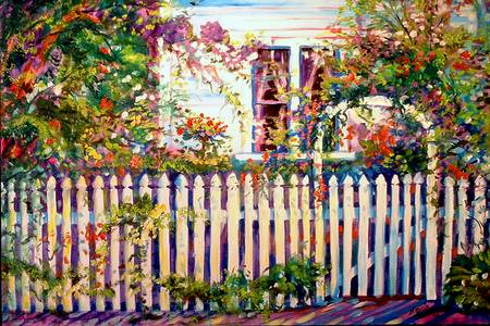 A Garden with Picket Fence