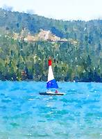 Sailing Donner Lake