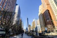 Lower Manhattan's Battery Park City and WTC