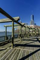 Battery Park City + Hudson River + WTC