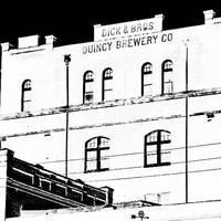 Old Dick Bros Brewery Black and White Negative