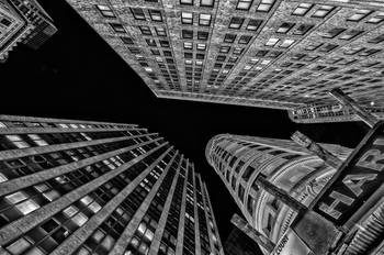 Overhead Extreme Perspective New York City Scape By New