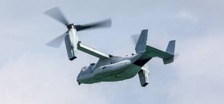 V-22 Osprey fly-past