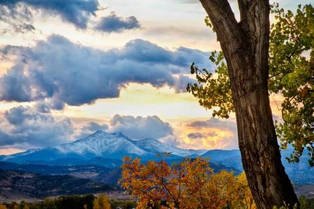 Colorado Rocky Mountain Twin Peaks Autumn View
