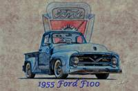 1955 Ford F100 Pickup Illustration