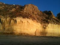 sunkissed cliffs