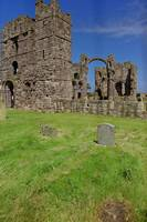 Ruins on Holy Island by Priscilla Turner