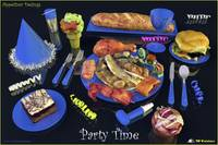 AParty Time  Blue - ppetizer Designs