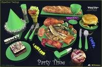 Party Time Green - Appetizer Designs