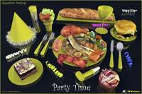 Party Time  Yellow - Appetizer Designs