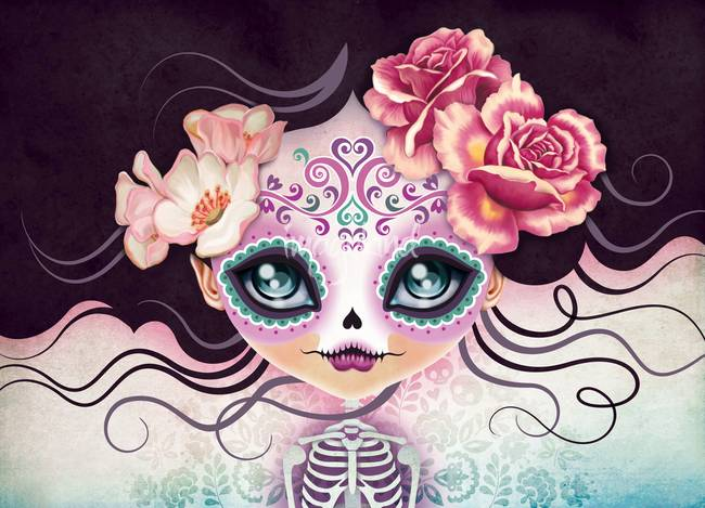 stunning sugar skulls artwork for sale on fine art prints