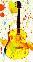 guitar color splash