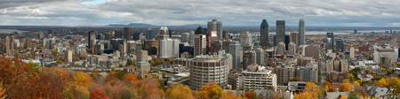 Montreal cityscape panorama.