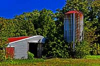 Abandoned Silo and Shed