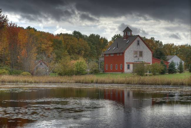 Stunning new england fall digital artwork for sale on for New england barns for sale