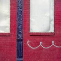 Squiggle on Red Brick Wall, NYC, 1973 (Early Color