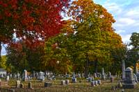 Woodlawn Cemetery in Fall