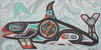 Killer Whale in Alaska native designs