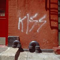 Kiss  Graffiti, Little Italy, NYC, 1979  Vintage!